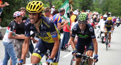 Contador and Valverde in the hunt for red jersey at the Vuelta a Espana