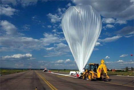 Spanish aeronautical company sends balloon to space