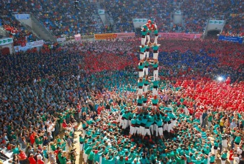 PICTURE SPECIAL: Catalan adrenaline junkies compete to build highest human towers