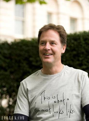 Standing up for equality: Nick Clegg supports Feminism