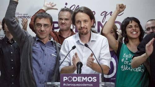 Podemos overtake leading parties in polls and prepare to vote in their government