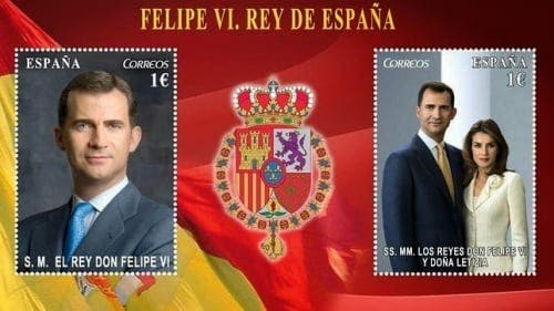 Special edition King Felipe and Queen Letizia stamps launched today
