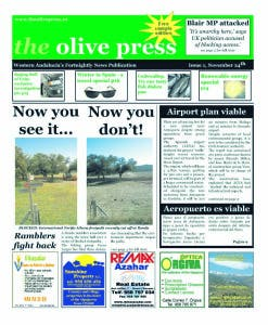 The very first Olive Press, November 2006