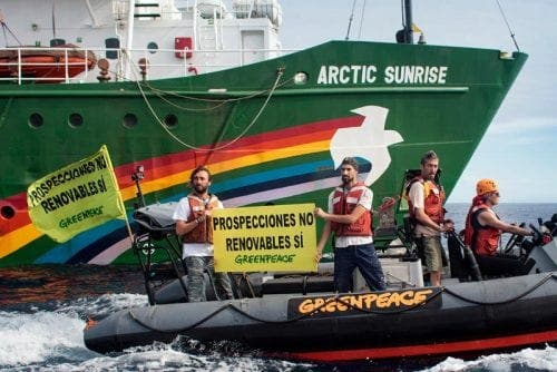 Protest in Malaga over Greenpeace ship seizure