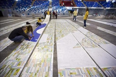 Malaga in the running for Guinness World Record of largest stamp mosaic