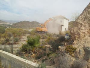 Expat's home previously demolished in Almeria