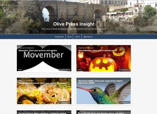 The launch of a new user-generated website, Olive Press Insight (OPi)