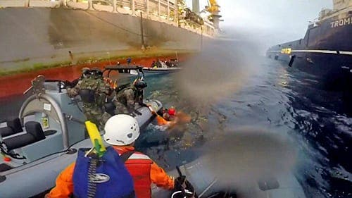 VIDEO: Greenpeace activist 'seriously injured' in Canary Islands oil drilling protest