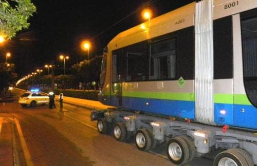 Velez-Malaga trams return from Australia
