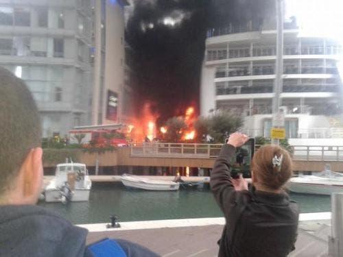 Fire at Gibraltar's Sunborn Hotel