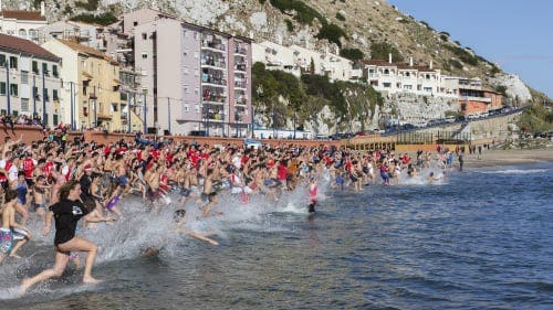 Gibraltarians brace themselves for Boxing Day Polar Bear swim