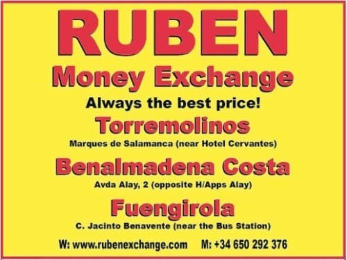 Ruben Money Exchange closing for one week over Christmas
