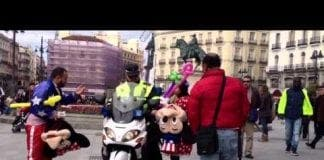 VIDEO: Mickey and Minnie Mouse involved in Madrid brawl