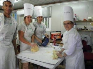 Catering school- La consula students
