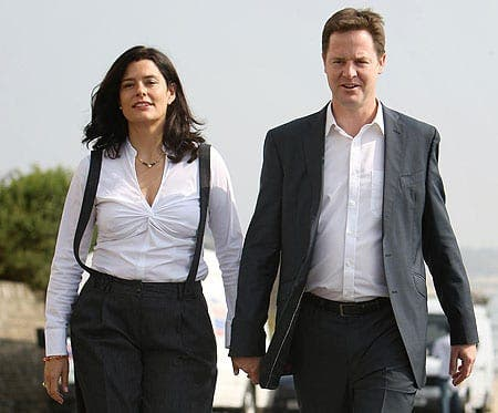 Nick Clegg will not use wife's popularity for his political standing