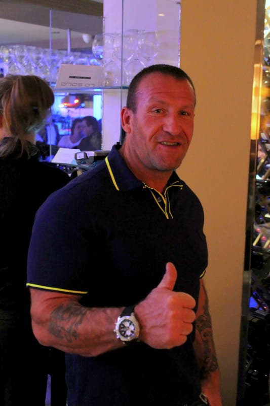 Bodybuilder legend Dorian Yates hangs out in Marbella