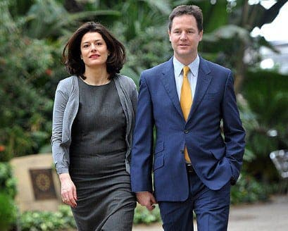 Nick Clegg praises wife's 'truly Spanish' personality