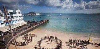 Oil protest Fuerteventura