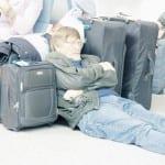 Sleeper at Malaga Airport