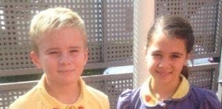 Swans Primary head boy girl