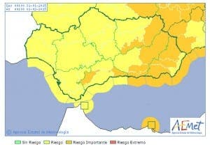 WEATHER ALERTS ANDALUCIA: Saturday, 31 January 2015 - click image for larger version