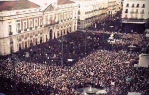 MADRID: Puerta del Sol this afternoon. Photograph by Luis Rehmark