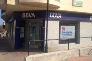 CRIME SCENE: BBVA in Sabinillas