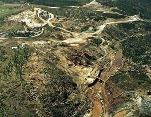 A bird's-eye view of the mines at Aznalcollar