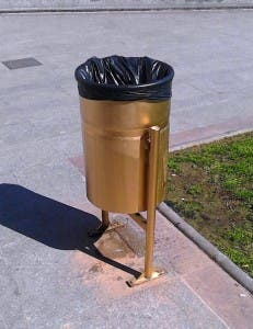 SPRAYED: Golden bin