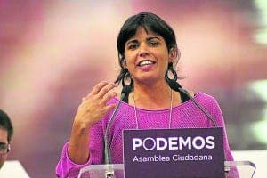 GOOD RESULT: For Rodriguez's Podemos who won 15 seats