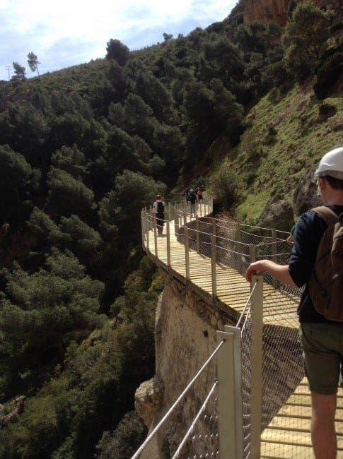 Reporter Tom Powell admires the scenery