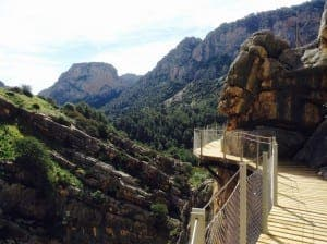 Stunning views from Caminito del Rey