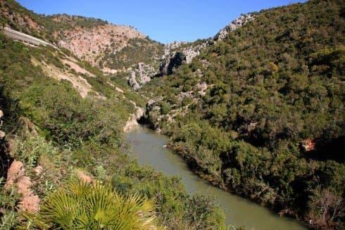 The Guadiaro river between Garganta de las Buitreras and El Comenar. Photograph: Karl Smallman