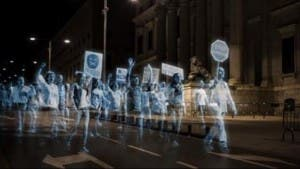 Hologram protest