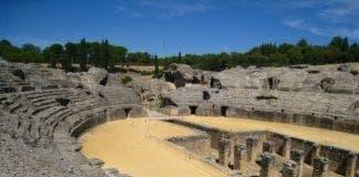 Italica amphitheatre Santiponce Andalucia Spain e