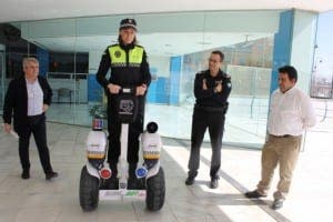 Mijas police on a Segway