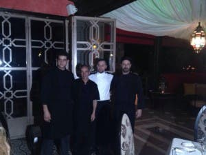 COOKING UP A TREAT: Head chef Ruben and the team