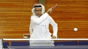 al-Ali practices table tennis in Spain