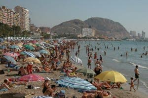 brit boom busy costa beach