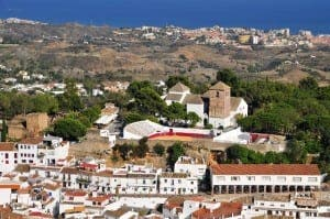 Mijas' bullring enjoys views down to the coast