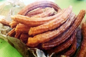 CHURROS: At break time, there was a mass order of churros for the English class to try