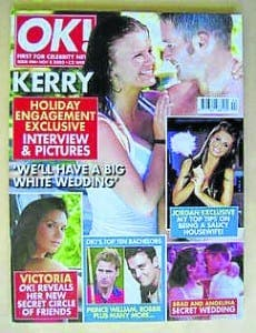 Kerry Katona on front cover of OK magazine