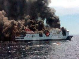 mallorca ferry fire