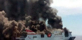 mallorca ferry fire