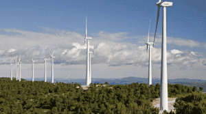 The wind turbines are part of the Gorona del Viento complex