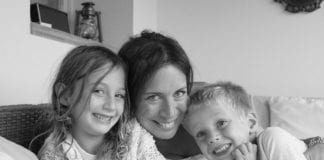 Carrie Frais co founder of MumAbroad and her two children e