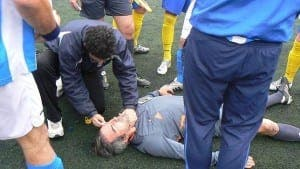 HOSPITALISED: Referee