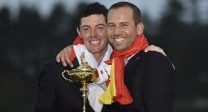 Garcia with World No. 1 Rory Mcillroy and the Ryder Cup