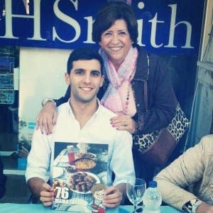 Justin Bautista with his grandmother, Mama Lottie herself