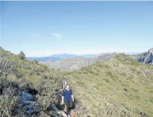 DIFFERENT WORLD: Walkers atop La Concha